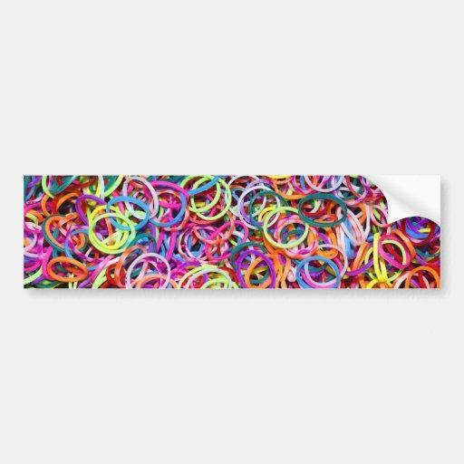 Colorful Rubberbands Bumper Sticker