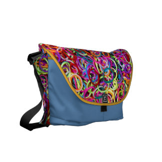 Colorful Rubberbands Messenger Bags