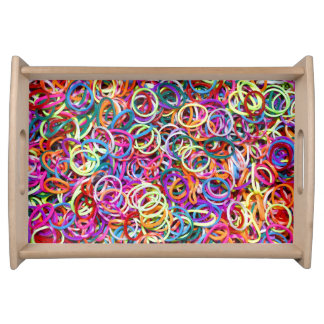 Colorful Rubberbands Serving Tray