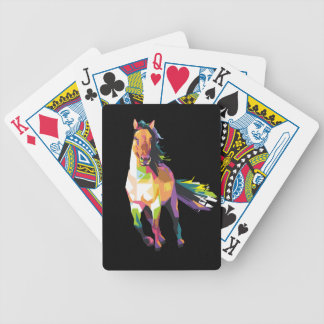 Colorful Running Horse Stallion Equestrian Bicycle Playing Cards