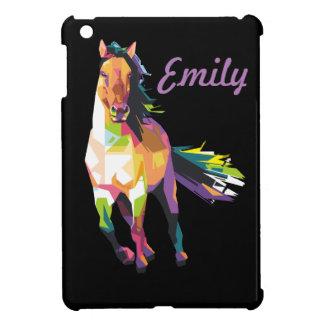 Colorful Running Horse Stallion Equestrian iPad Mini Covers