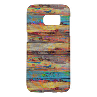 Colorful Rustic Painted Wood Boards Samsung Galaxy S7 Case