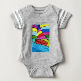 Colorful Sail Baby Bodysuit