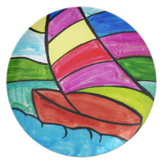 Colorful Sail Plate
