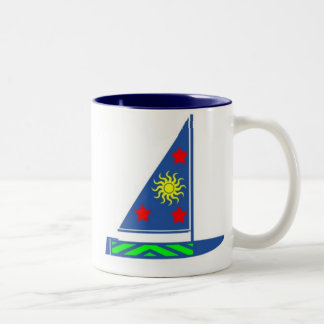 Colorful Sailboat Mug