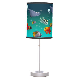 Colorful Saltwater Fish Cartoon Table Lamp