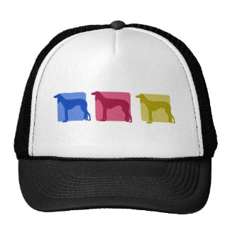 Colorful Saluki Silhouettes Trucker Hat