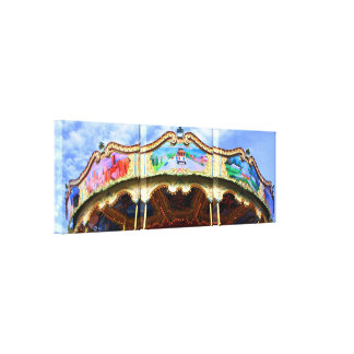 Colorful San Francisco Carousel Canvas Print