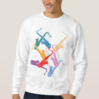 Colorful Saxophones Sweatshirt