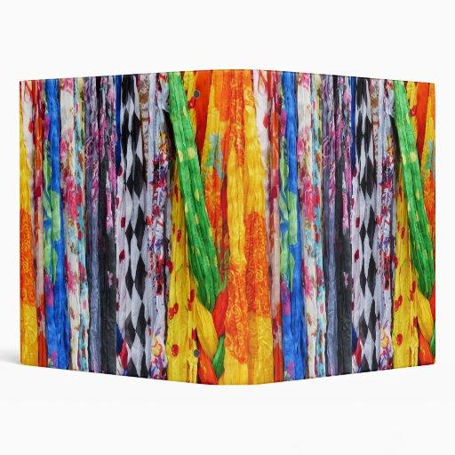 Colorful Scarves Vinyl Binders