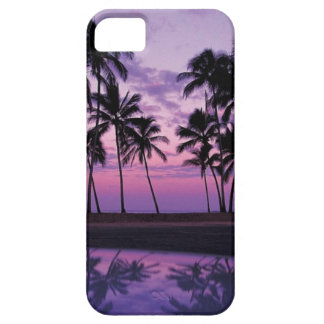 Colorful Scene of Palm Trees at Sunset Case For The iPhone 5