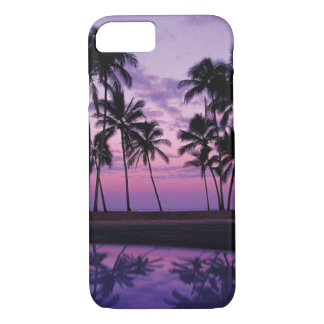 Colorful Scene of Palm Trees at Sunset iPhone 8/7 Case