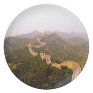 Colorful scenic at the great Wall of China in Dinner Plates