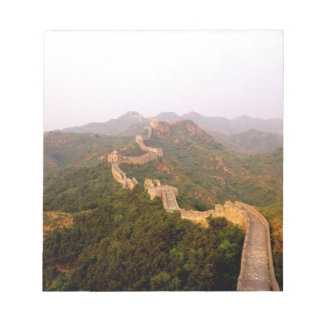 Colorful scenic at the great Wall of China in Note Pads