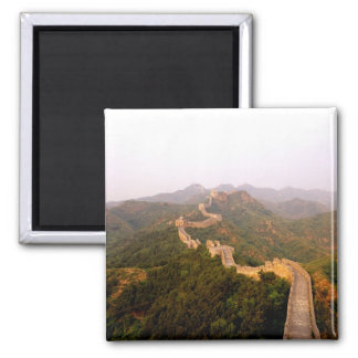 Colorful scenic at the great Wall of China in Square Magnet