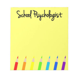 Colorful School Psychologist Notepad