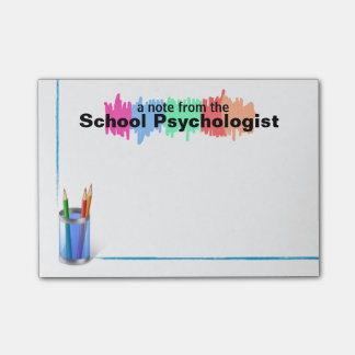 Colorful School Psychologist Sticky Notes