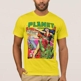 COLORFUL SCI FI PLANET COMICS T-Shirt