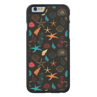 Colorful Sea Creatures Carved Maple iPhone 6 Case