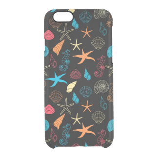 Colorful Sea Creatures Clear iPhone 6/6S Case
