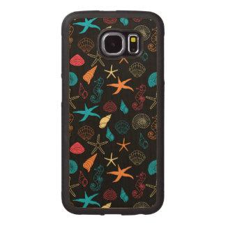Colorful Sea Creatures Wood Phone Case