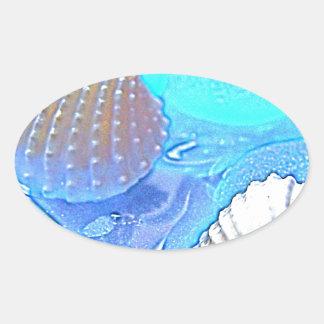 Colorful Sea Glass Oval Sticker