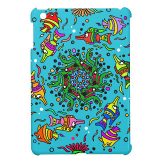 colorful sea life  art design iPad mini covers