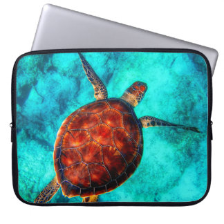 Colorful Sea Turtle Laptop Sleeve