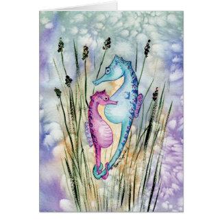 Colorful Seahorses Greeting Card