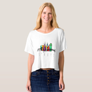 Colorful Seattle skyline t-shirt