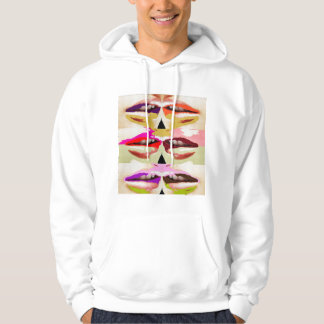 Colorful sensual lips fine art hoodie