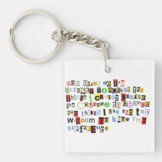 Colorful Serenity Prayer Acrylic Keychain