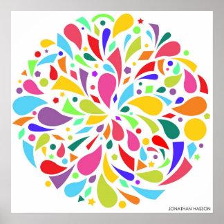 Colorful Shape Burst Poster