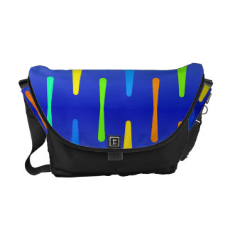 Colorful shapes abstract design courier bag