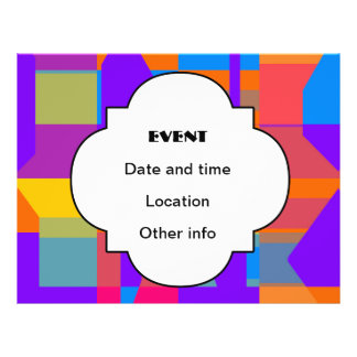 Colorful shapes abstract design custom flyer