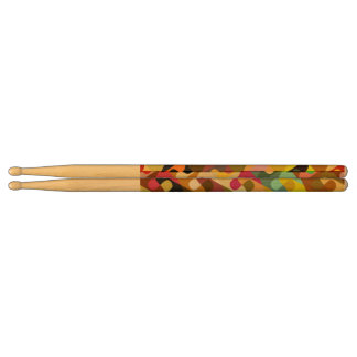Colorful shapes abstract design drumsticks