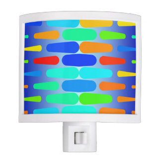 Colorful shapes abstract design night light