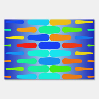 Colorful shapes abstract design sign