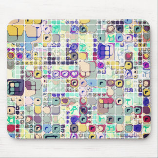 Colorful Shapes And Stuff Mouse Pad