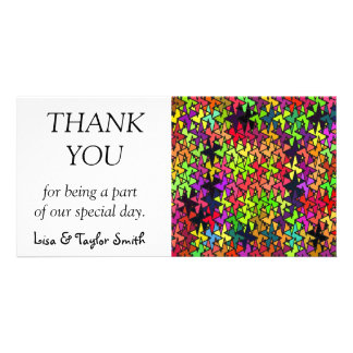 Colorful shapes pattern custom photo card