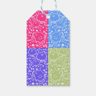 Colorful Sheep Dreams Pattern Gift Tags