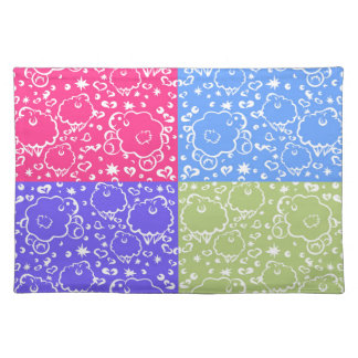 Colorful Sheep Dreams Pattern Placemat