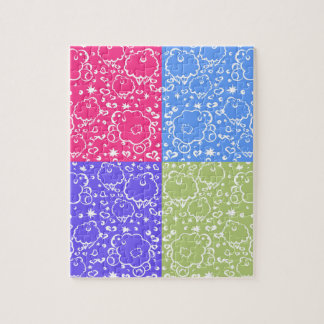 Colorful Sheep Dreams Pattern Puzzle
