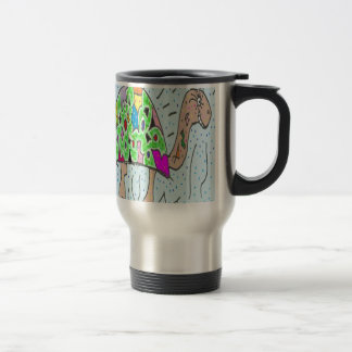 Colorful Shell Turtle Travel Mug