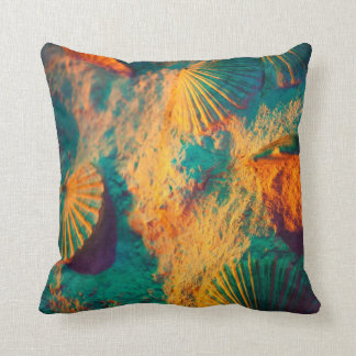 Colorful Shells Throw Pillow