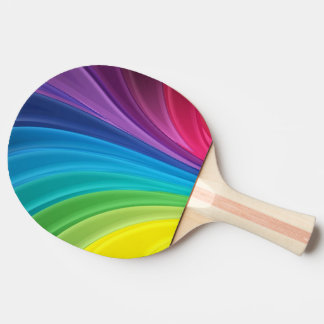 colorful shining rainbow ping pong paddle