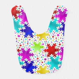 Colorful Shiny Snowflake Pattern Bib