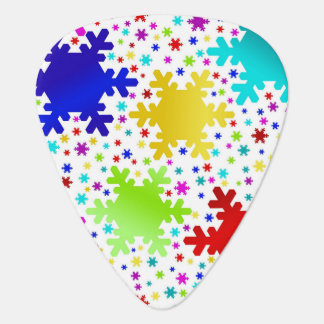 Colorful Shiny Snowflake Pattern Guitar Pick
