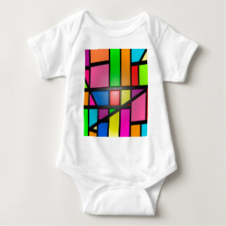 Colorful shiny Tiles Baby Bodysuit