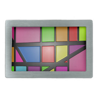 Colorful shiny Tiles Belt Buckle